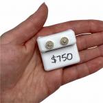 GHJ Raised Halo diamond earrings